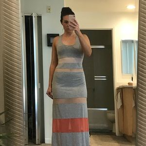 Grey maxi with color blocking details